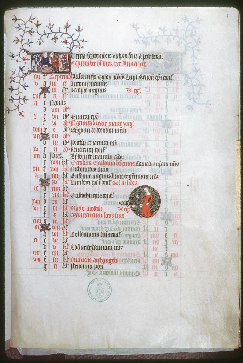 Tours, Bibl. mun., ms. 0185, f. 005 - vue 1