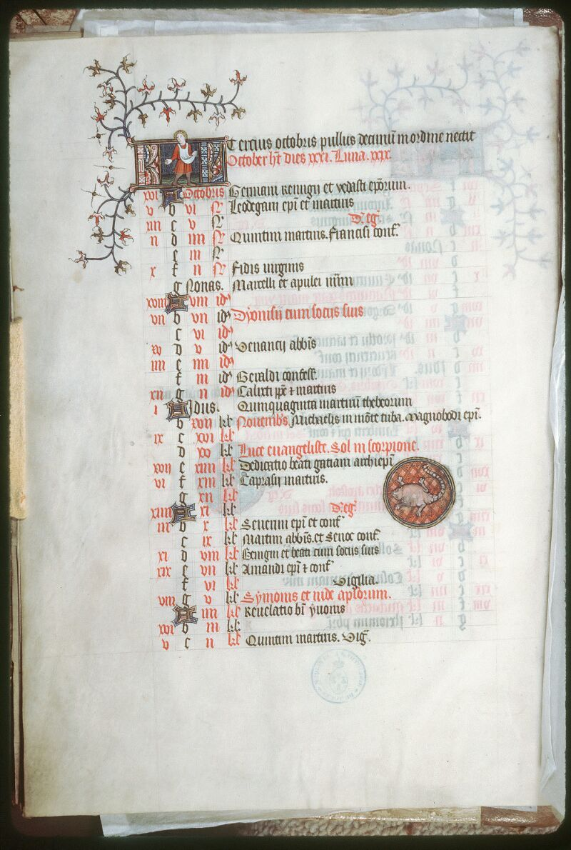 Tours, Bibl. mun., ms. 0185, f. 005v - vue 1
