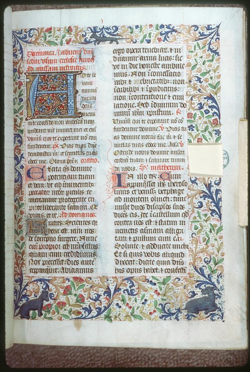 Tours, Bibl. mun., ms. 0186, f. 015 - vue 1
