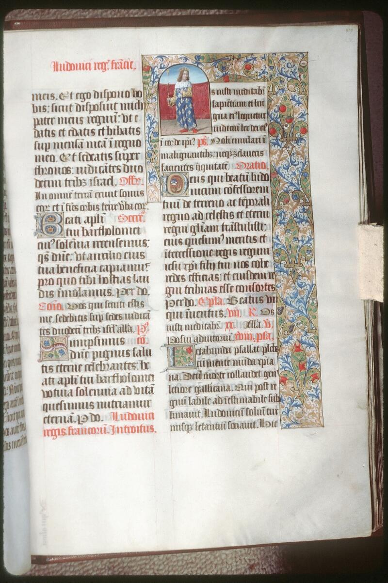 Tours, Bibl. mun., ms. 0190, f. 239 - vue 1