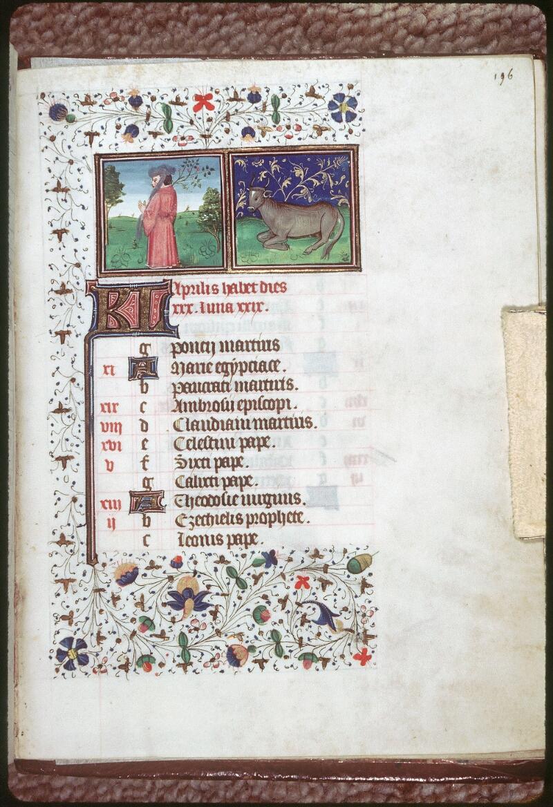 Tours, Bibl. mun., ms. 0218, f. 196 - vue 1
