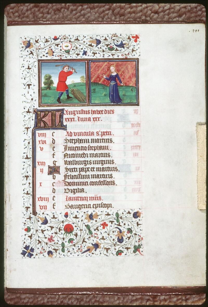 Tours, Bibl. mun., ms. 0218, f. 200 - vue 1