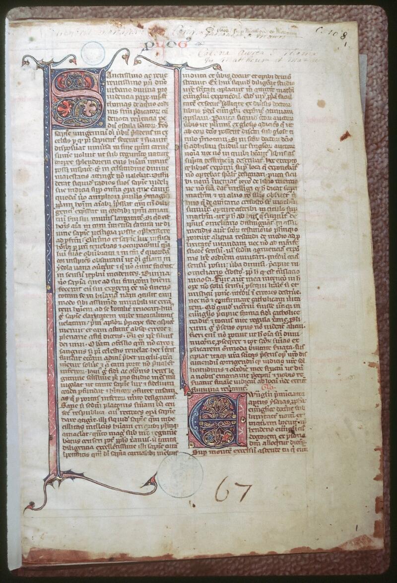 Tours, Bibl. mun., ms. 0108, f. 001