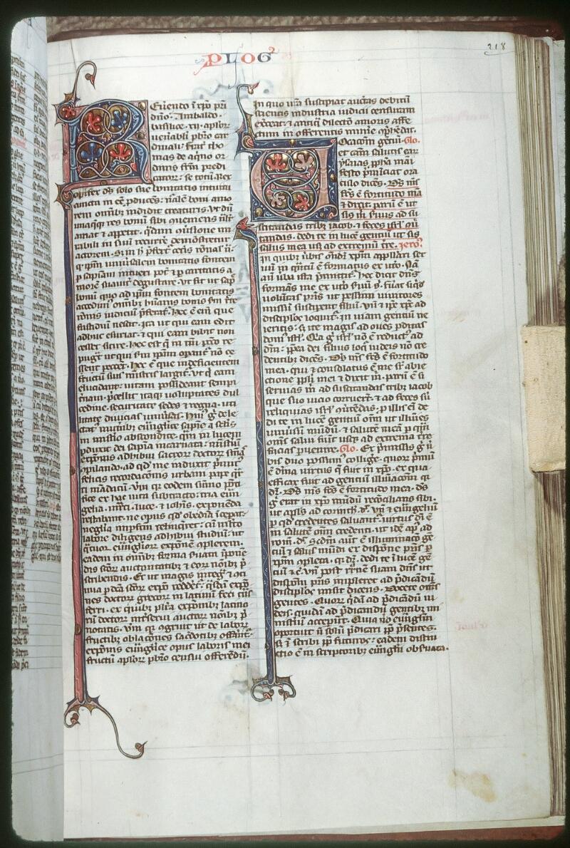 Tours, Bibl. mun., ms. 0108, f. 218