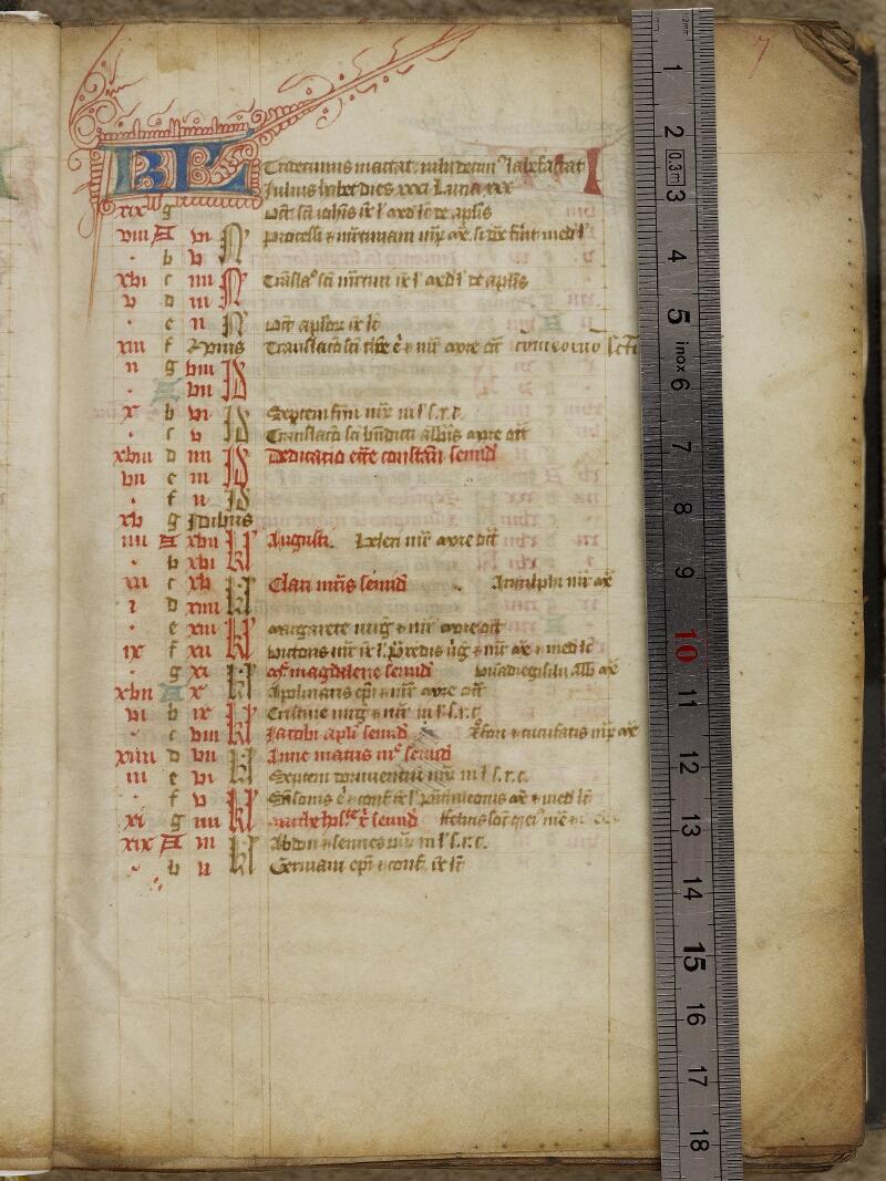 Valognes, Bibl. mun., ms. 0004, f. 007 - vue 1