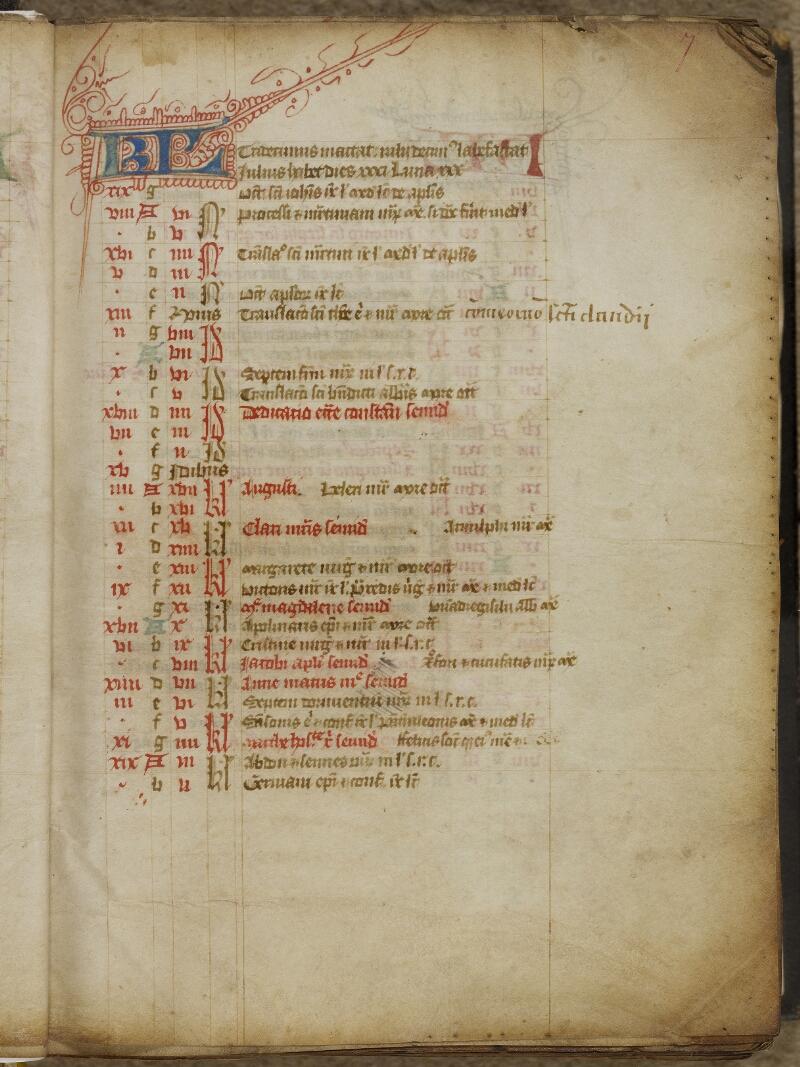 Valognes, Bibl. mun., ms. 0004, f. 007 - vue 2