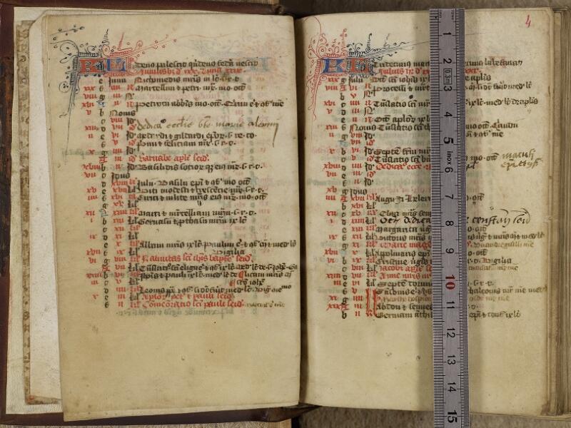 Valognes, Bibl. mun., ms. 0005, f. 003v-004 - vue 1