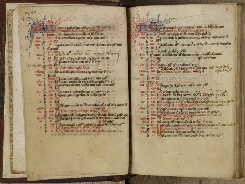 Valognes, Bibl. mun., ms. 0005, f. 003v-004 - vue 2