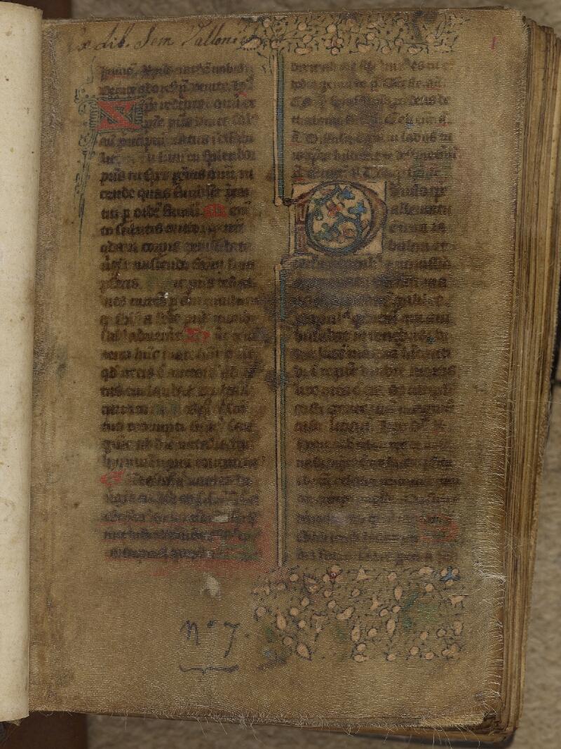 Valognes, Bibl. mun., ms. 0007, f. 001- vue 2