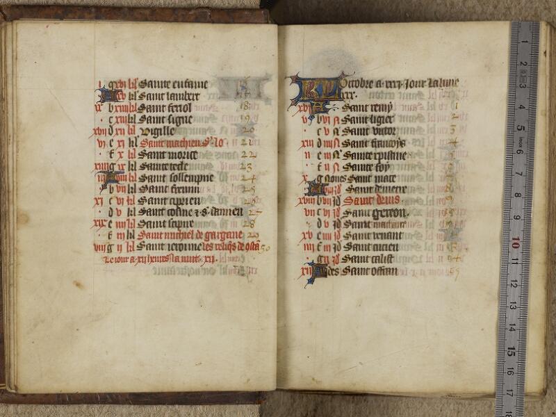 Valognes, Bibl. mun., ms. 0008, f. 0009v-0010 - vue 1