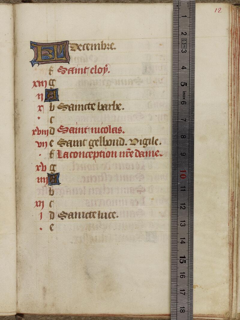 Valognes, Bibl. mun., ms. 0010, f. 012 - vue 1