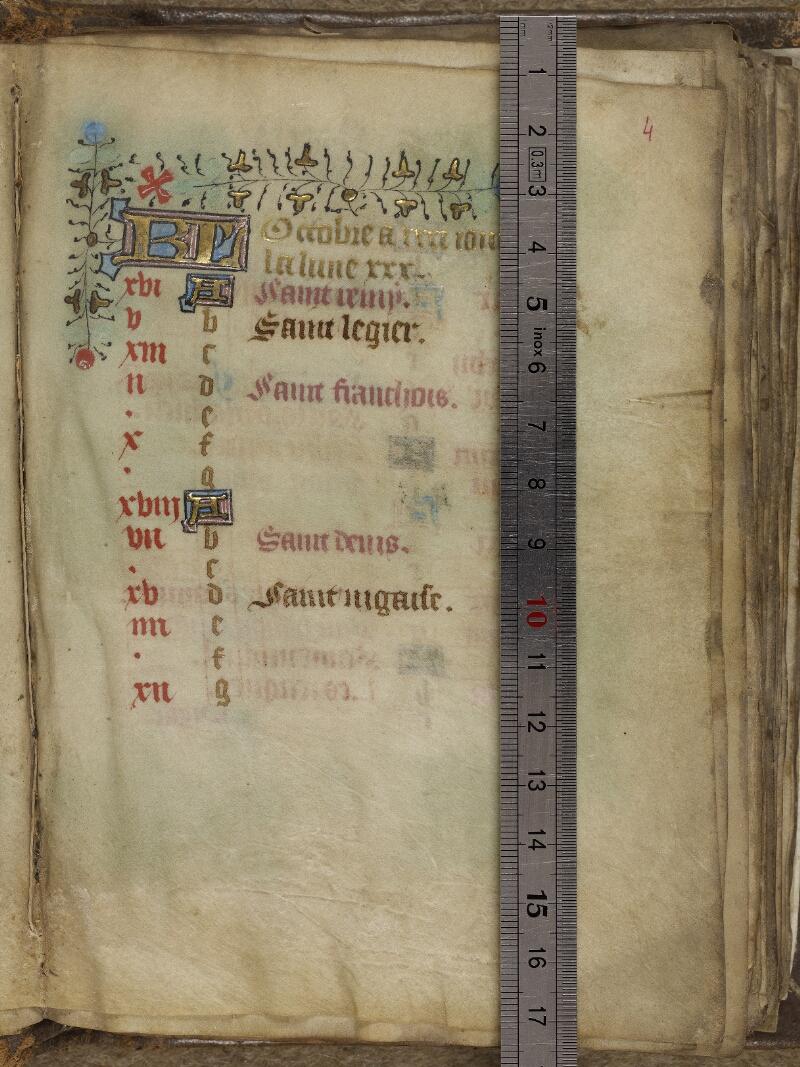 Valognes, Bibl. mun., ms. 0011, f. 004 - vue 1