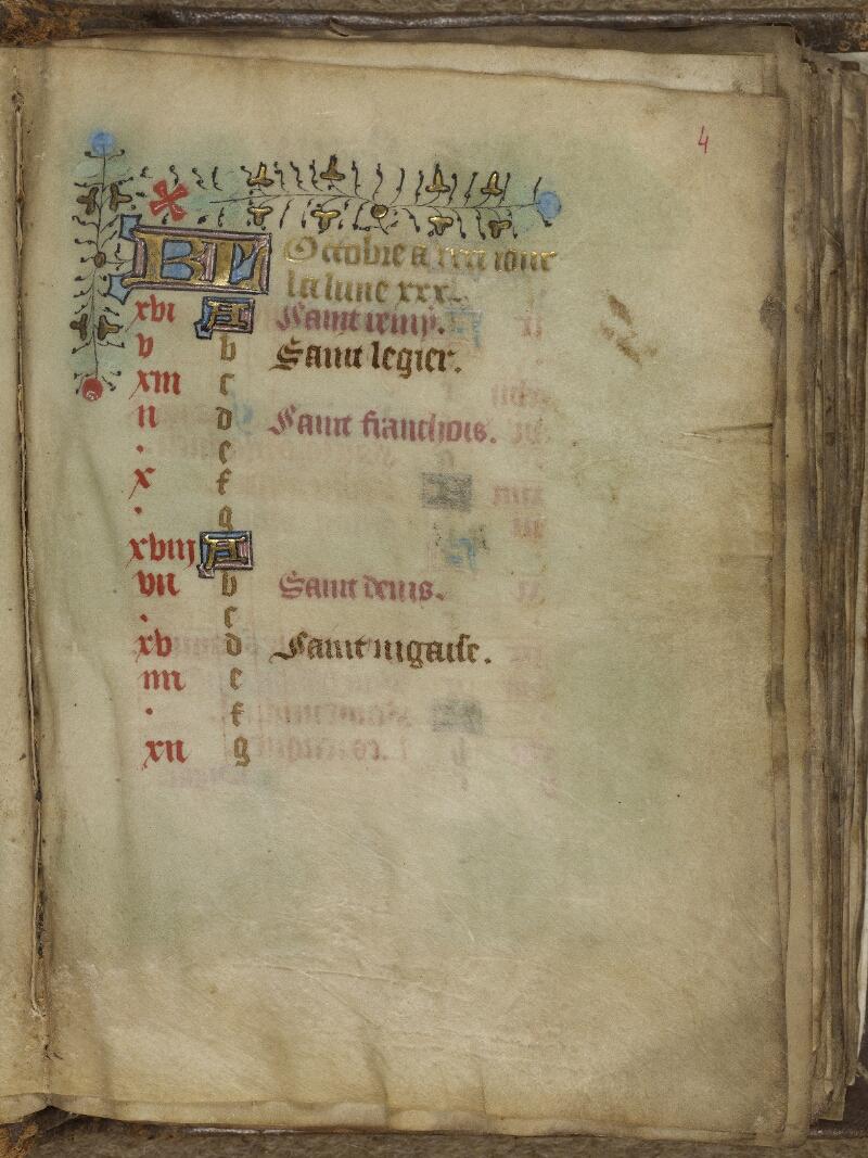 Valognes, Bibl. mun., ms. 0011, f. 004 - vue 2