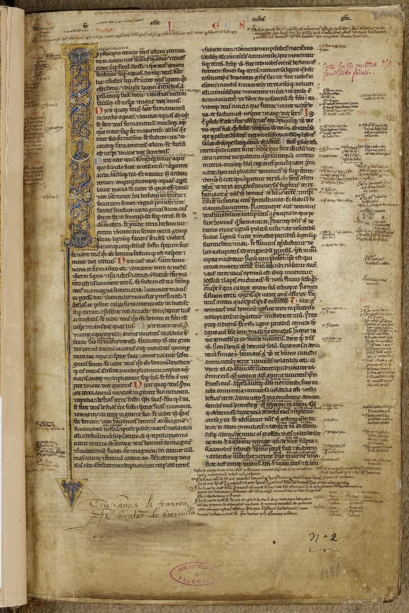 Valognes, Bibl. mun., ms. 0002, f. 001 - vue 1