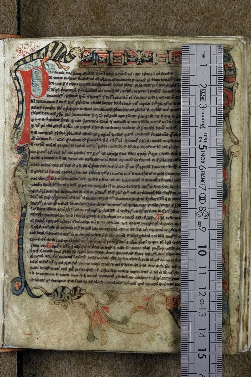 Vannes, Bibl. mun., ms. 0001, f. 001 - vue 1