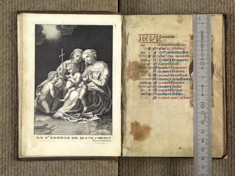 VERSAILLES, Bibliothèque municipale, 1686 (139 M), f. 000Av - 001 avec réglet