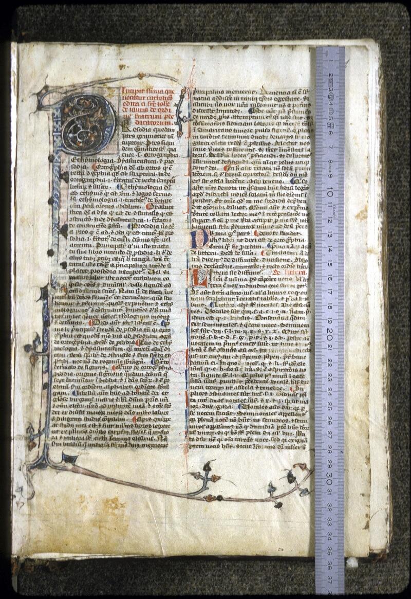 Lyon, Bibl. mun., ms. 0126, f. 001 - vue 1