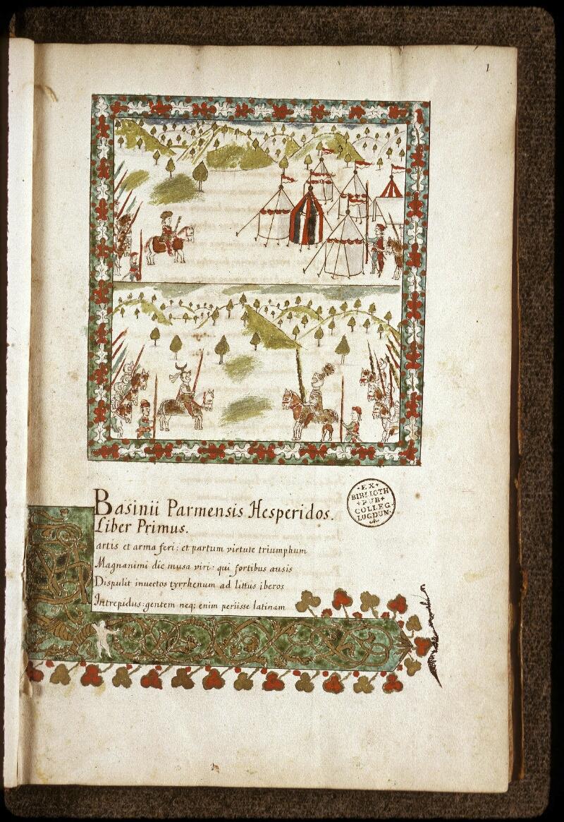 Lyon, Bibl. mun., ms. 0154, f. 001 - vue 2