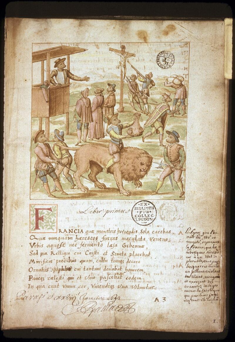 Lyon, Bibl. mun., ms. 0156, f. 001 - vue 1