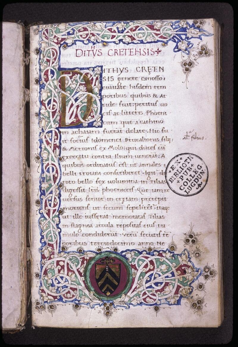 Lyon, Bibl. mun., ms. 0222, f. 001 - vue 2