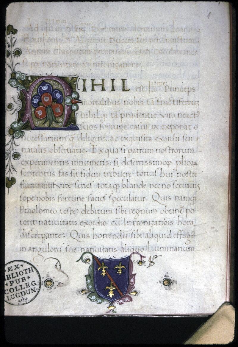 Lyon, Bibl. mun., ms. 0233, f. 001 - vue 1