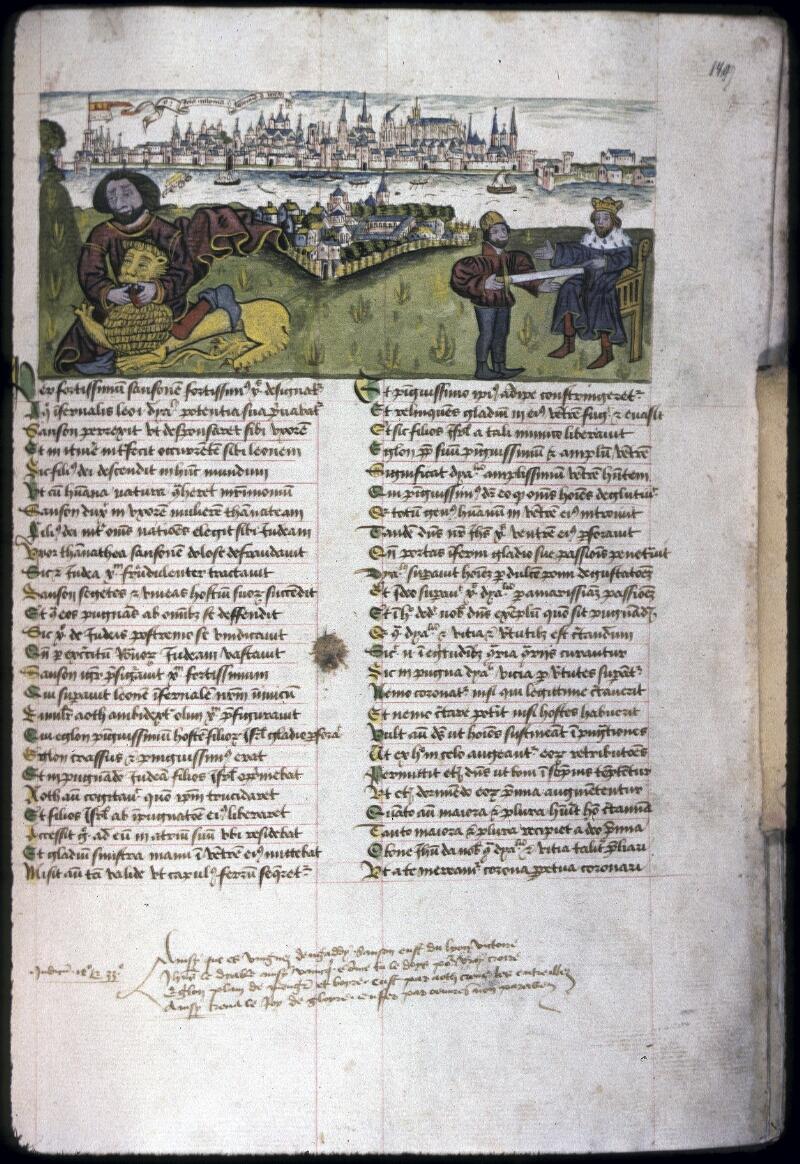 Lyon, Bibl. mun., ms. 0245, f. 149 - vue 1