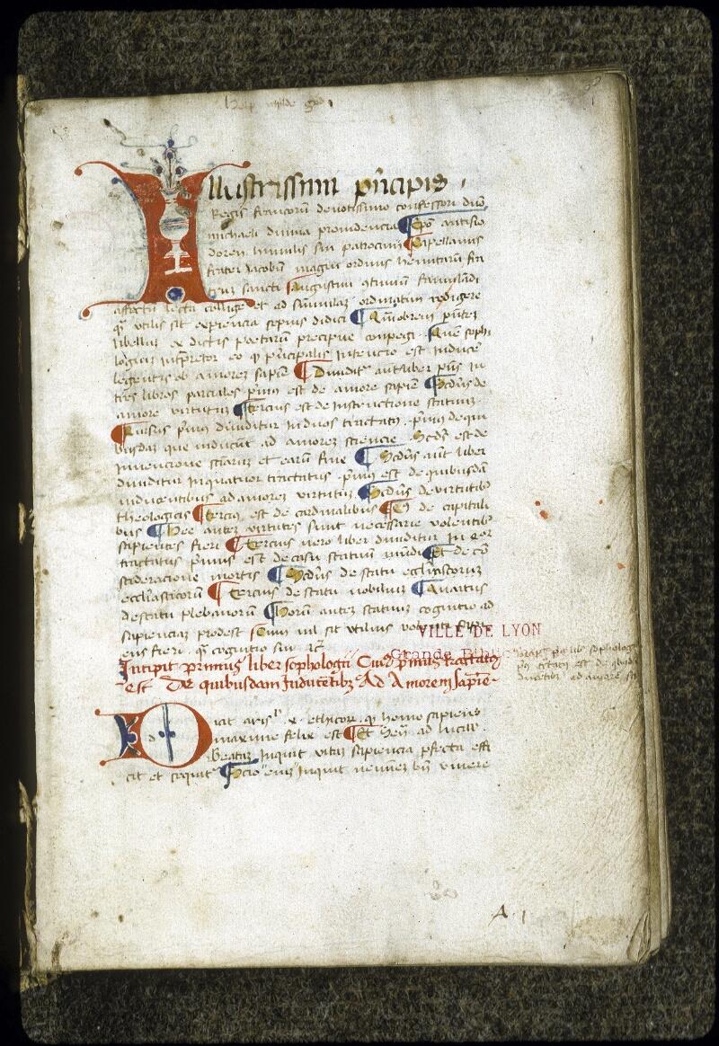 Lyon, Bibl. mun., ms. 0288, f. 001 - vue 2
