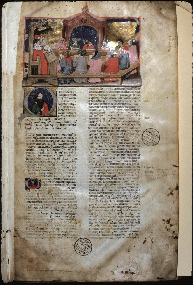 Lyon, Bibl. mun., ms. 0374, f. 001 - vue 1