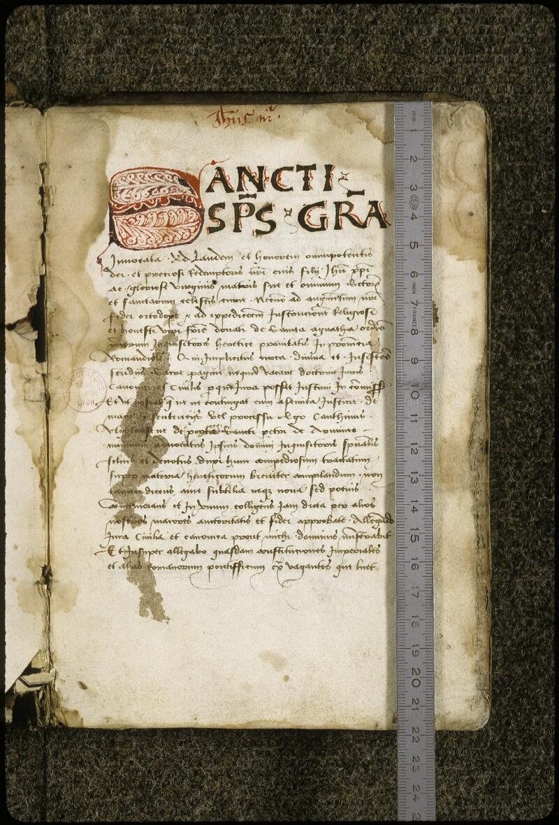 Lyon, Bibl. mun., ms. 0396, f. 001 - vue 1