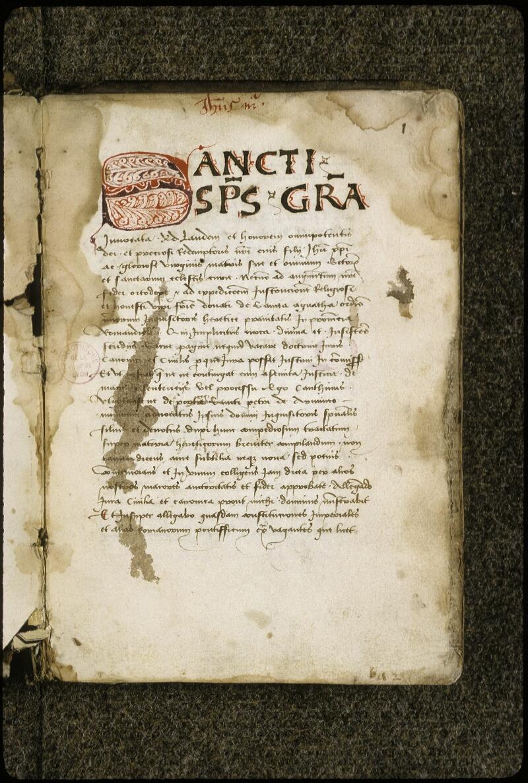 Lyon, Bibl. mun., ms. 0396, f. 001 - vue 2