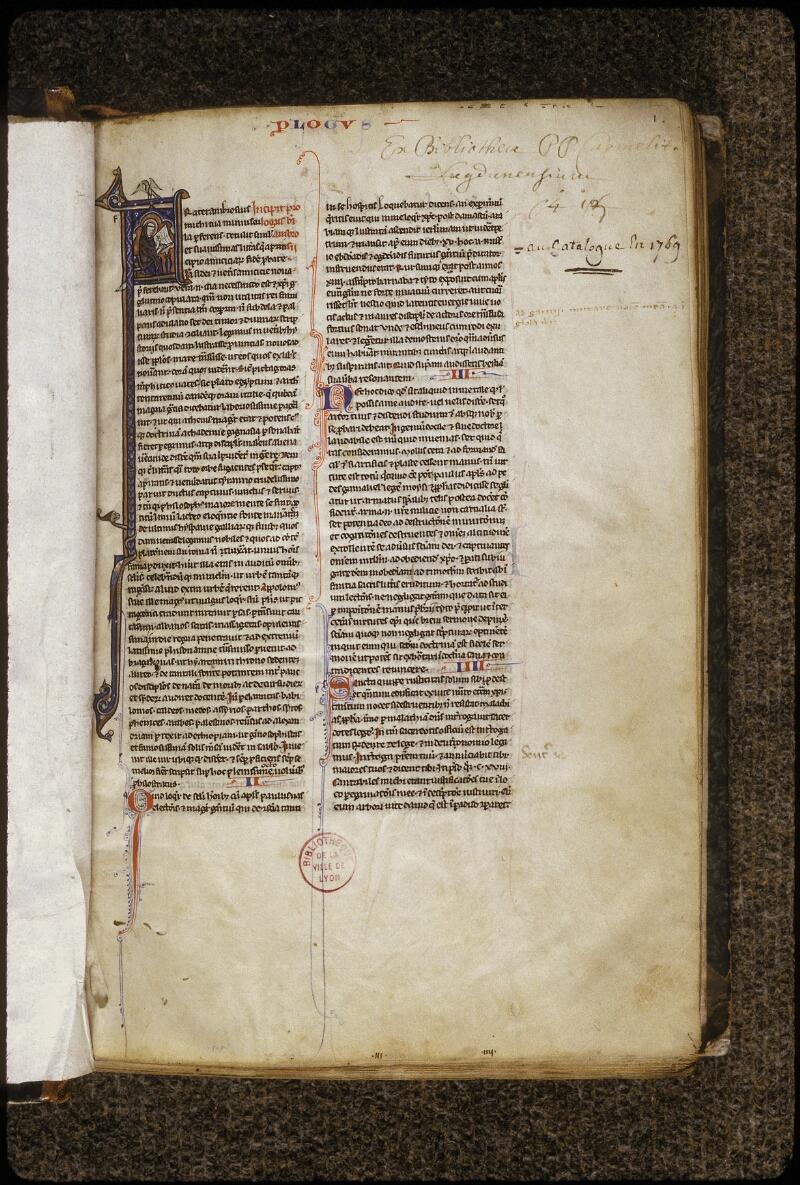 Lyon, Bibl. mun., ms. 0408, f. 001 - vue 2