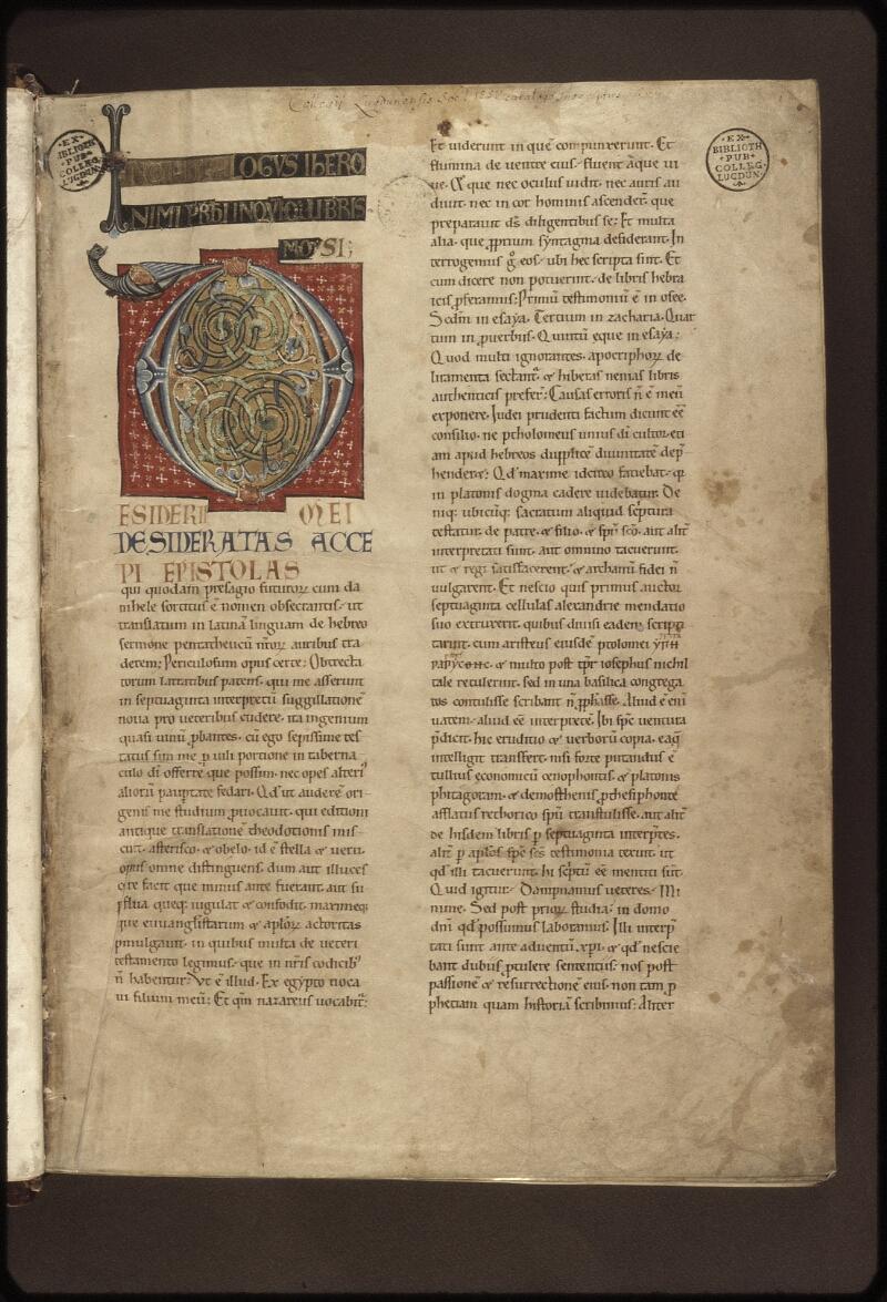 Lyon, Bibl. mun., ms. 0410, f. 001 - vue 2