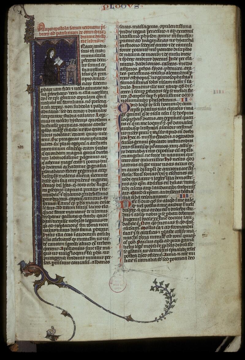 Lyon, Bibl. mun., ms. 0418, f. 001 - vue 1
