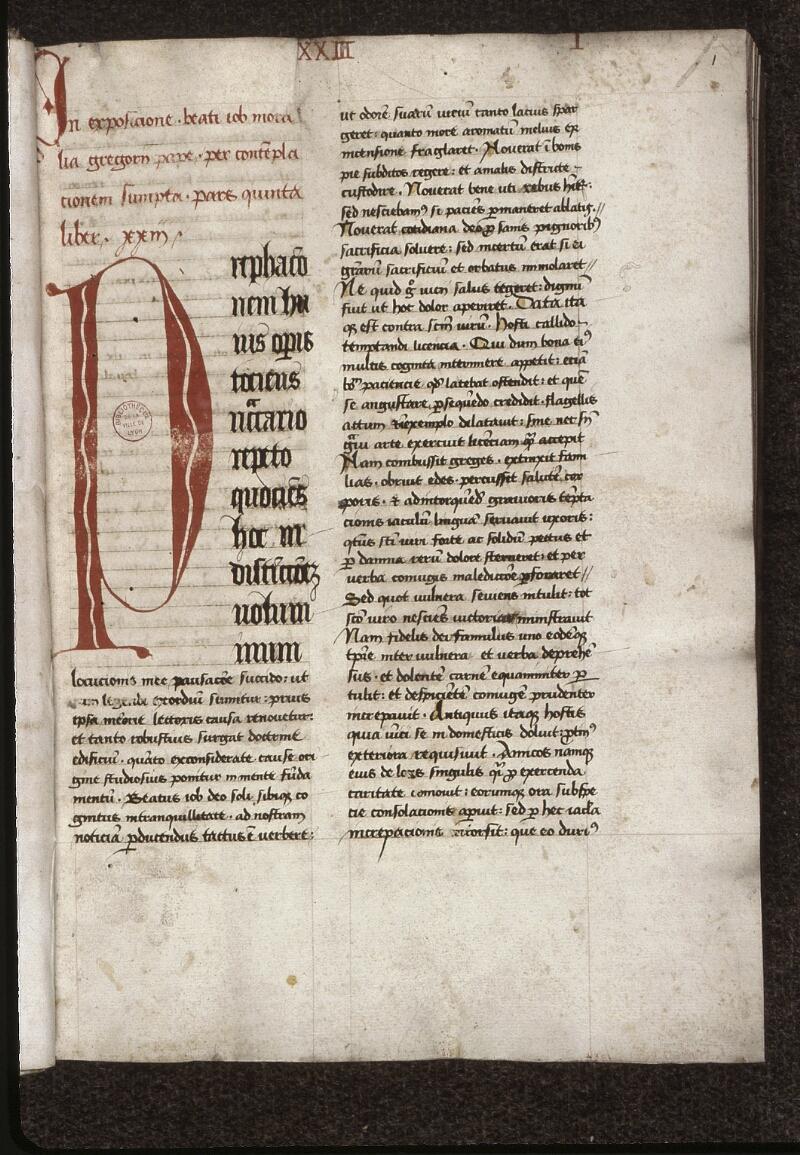 Lyon, Bibl. mun., ms. 0470, f. 001 - vue 2
