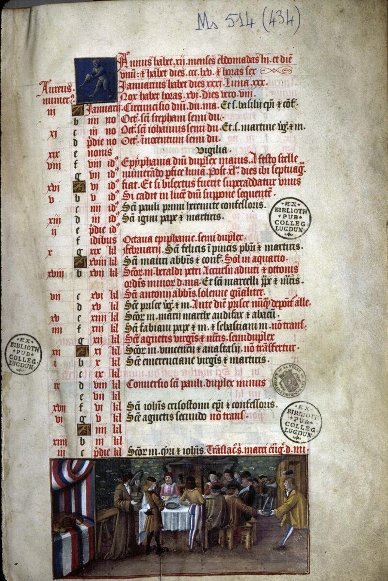 Lyon, Bibl. mun., ms. 0514, f. 001 - vue 1