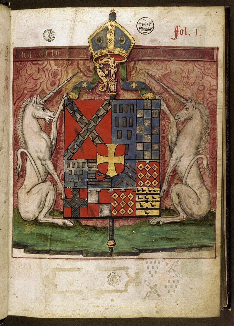 Lyon, Bibl. mun., ms. 0521, f. 001 - vue 2