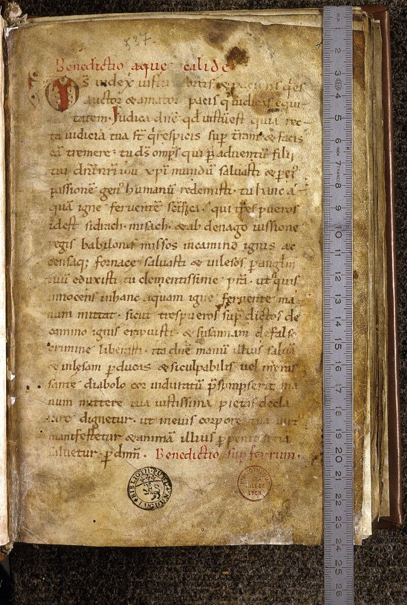 Lyon, Bibl. mun., ms. 0537, f. 001 - vue 1