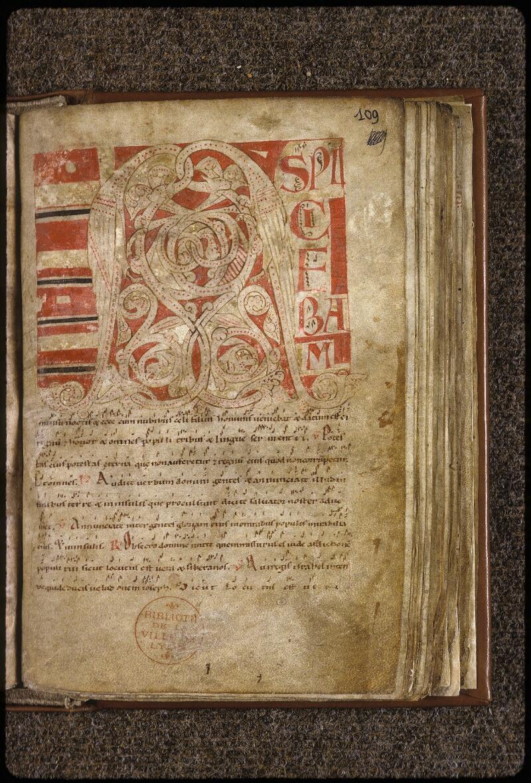 Lyon, Bibl. mun., ms. 0537, f. 109 - vue 1