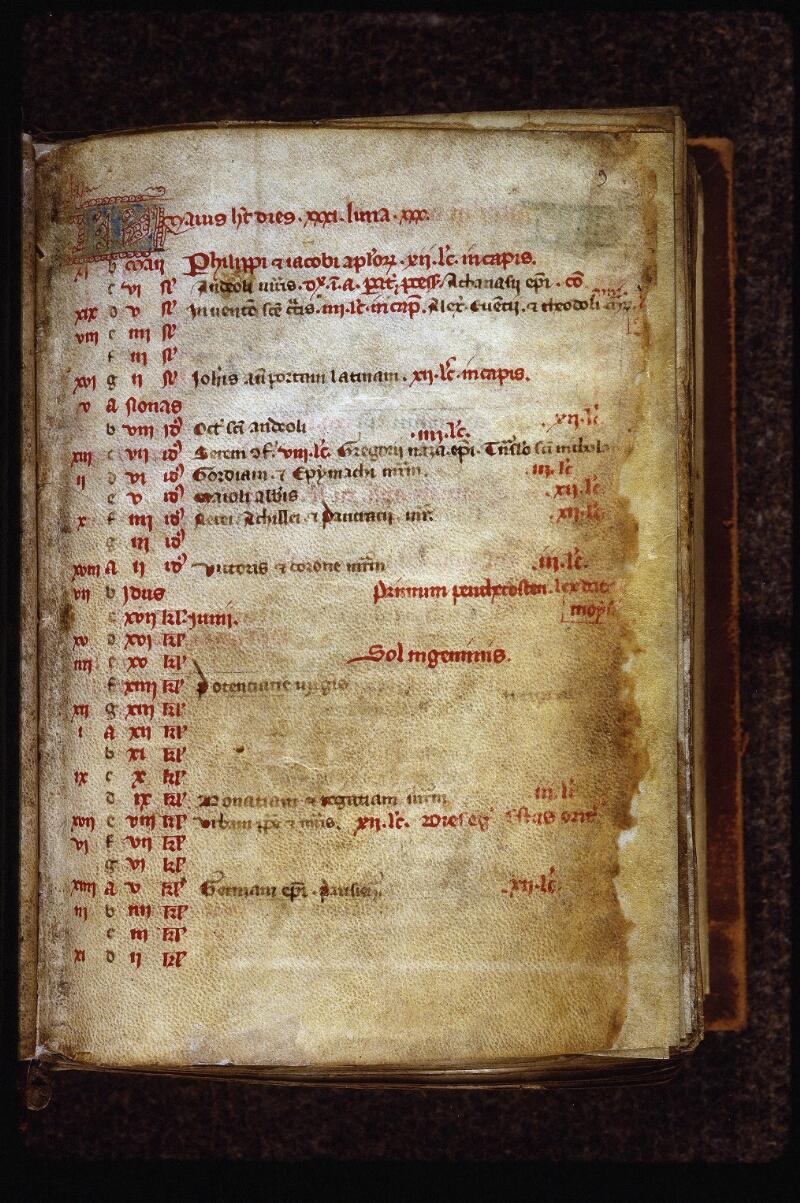 Lyon, Bibl. mun., ms. 0555, f. 003 - vue 2