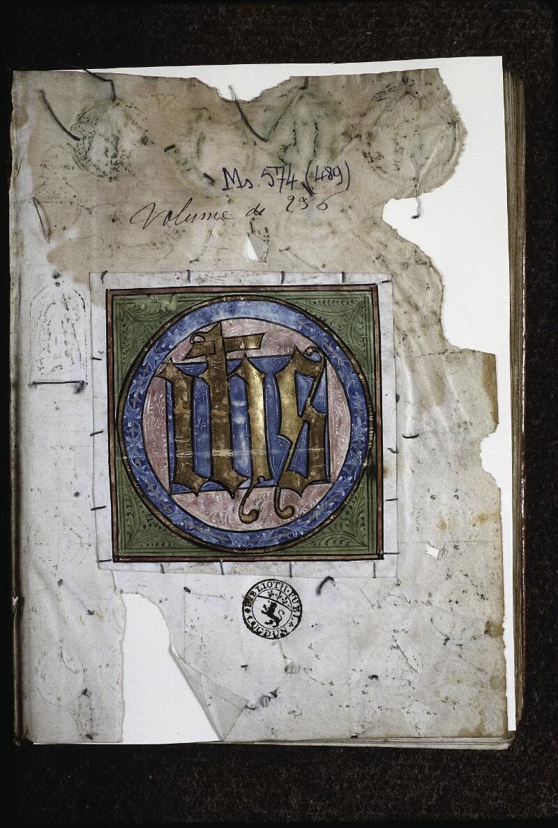Lyon, Bibl. mun., ms. 0574, f. 000I - vue 1