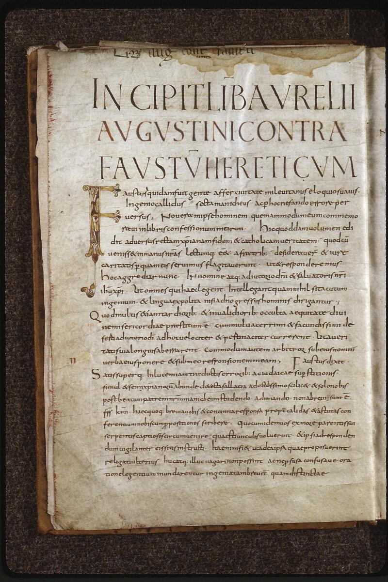 Lyon, Bibl. mun., ms. 0610, f. 001v - vue 2