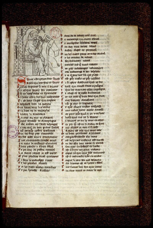 Lyon, Bibl. mun., ms. 0868, f. 001 - vue 2