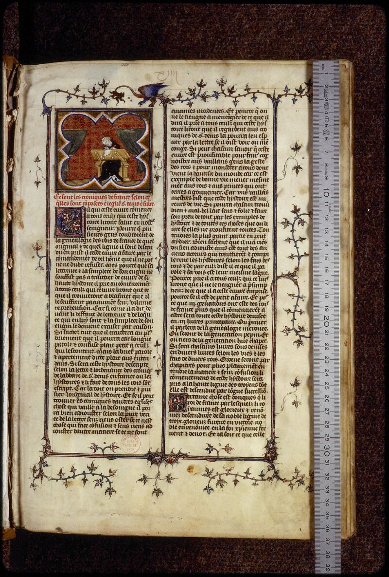 Lyon, Bibl. mun., ms. 0880, f. 001 - vue 1