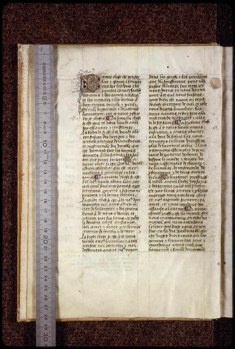Lyon, Bibl. mun., ms. 1234, f. 001v - vue 1