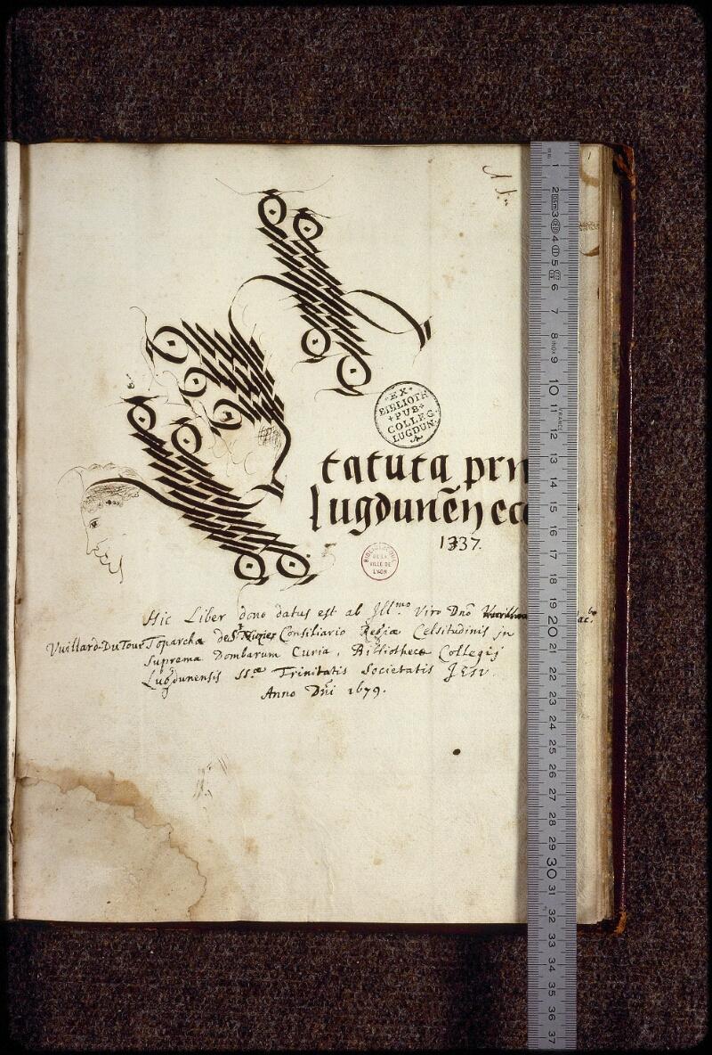 Lyon, Bibl. mun., ms. 1386, f. 001 - vue 1