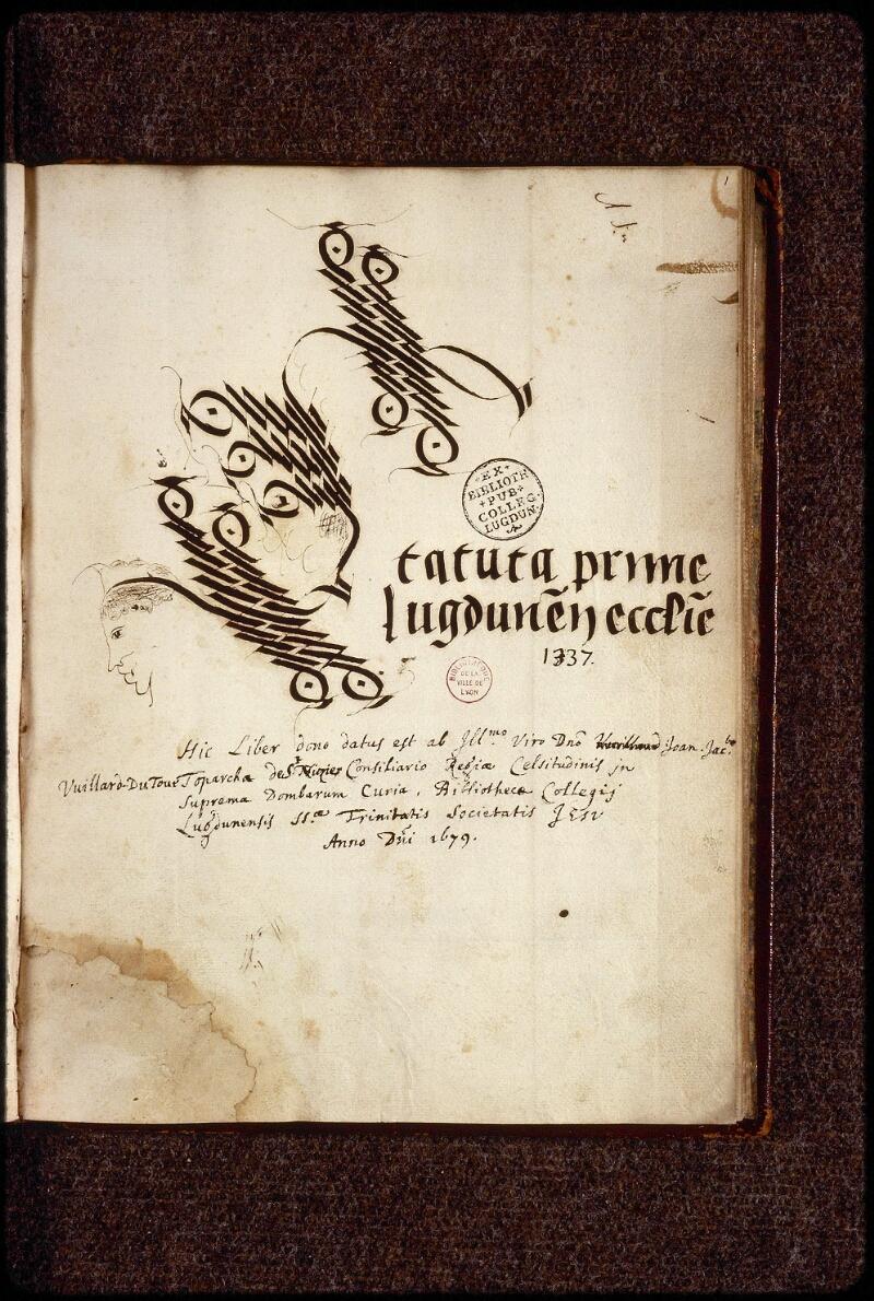 Lyon, Bibl. mun., ms. 1386, f. 001 - vue 2