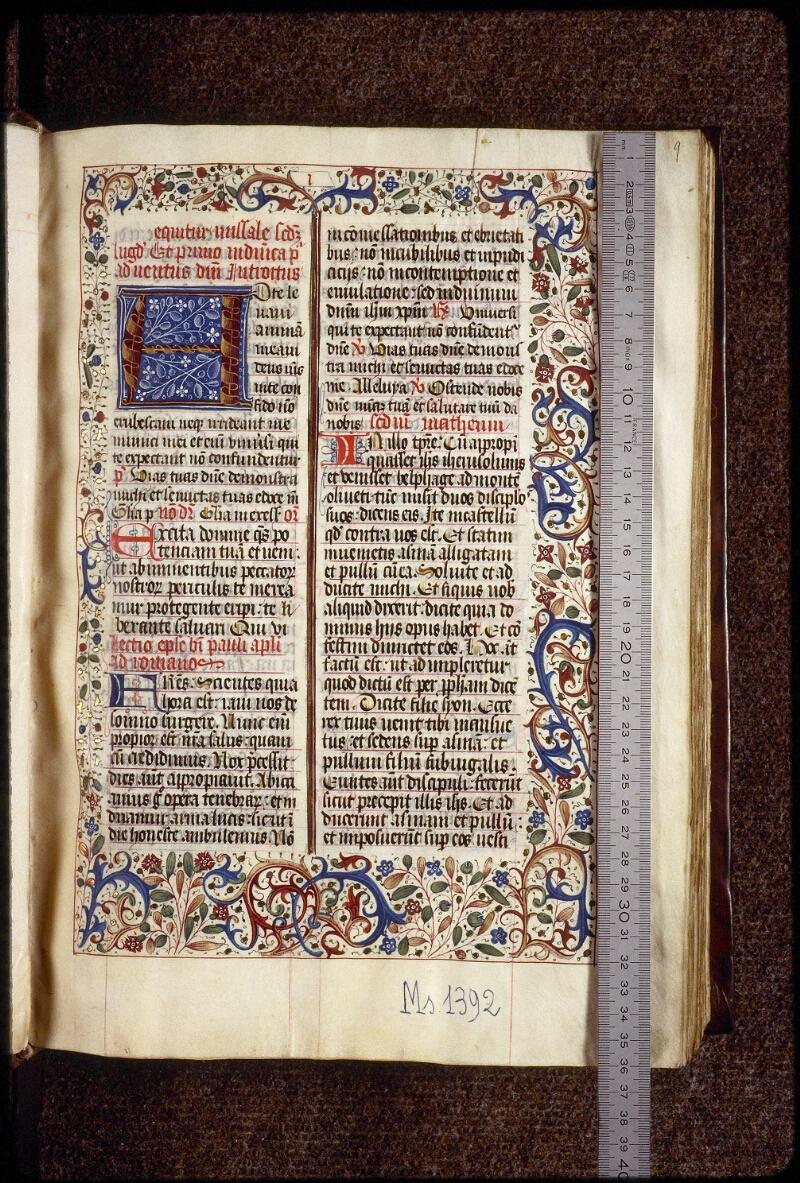 Lyon, Bibl. mun., ms. 1392, f. 009 - vue 1