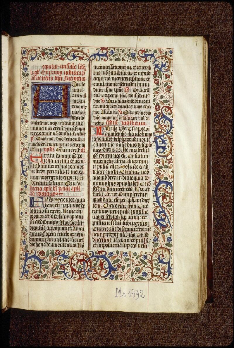 Lyon, Bibl. mun., ms. 1392, f. 009 - vue 2