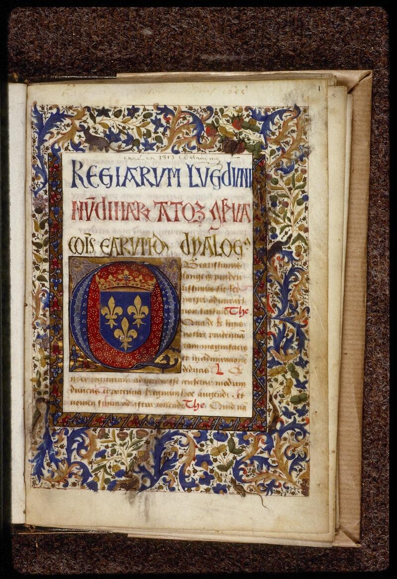 Lyon, Bibl. mun., ms. 1466, f. 001 - vue 2