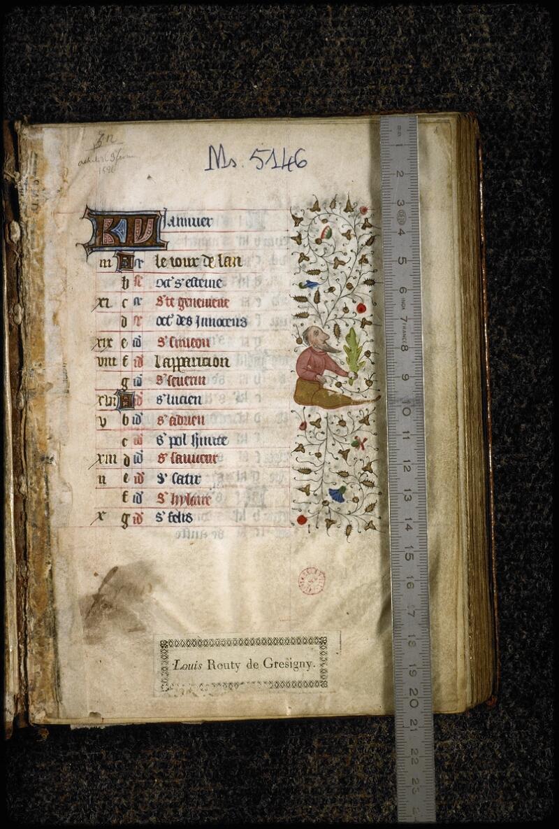 Lyon, Bibl. mun., ms. 5146, f. 001 - vue 1